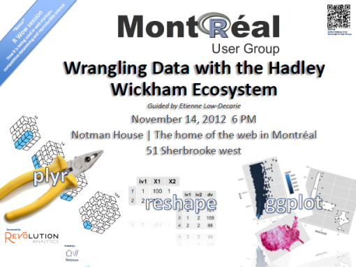 Montreal R User Group meetup Nov. 14th