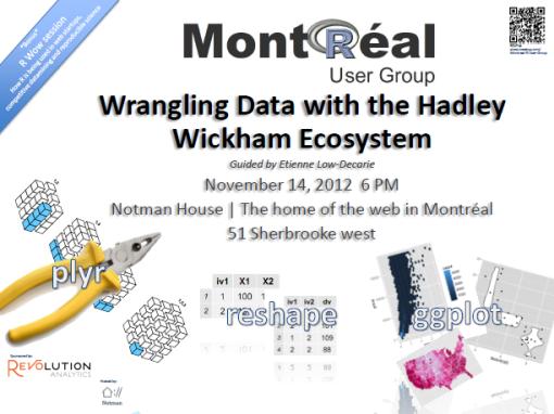 Montreal R User Group meetup Nov. 14th