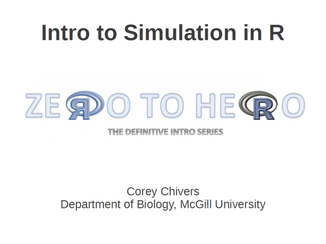 Introduction to Simulation using R
