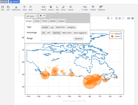 Online R And Plotly Graphs Canadian And US Maps Old Faithful - Make points on a map